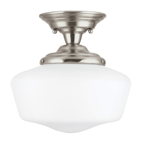 Sea Gull Lighting Sea Gull Lighting Academy Brushed Nickel LED Semi-Flushmount Light 77436EN3-962