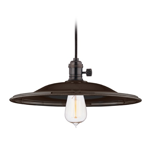 Hudson Valley Lighting Hudson Valley Lighting Heirloom Old Bronze Pendant Light with Coolie Shade 8001-OB-MM2
