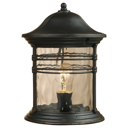 Elk Lighting Post Light with Clear Glass in Matte Black Finish 08169-MBG