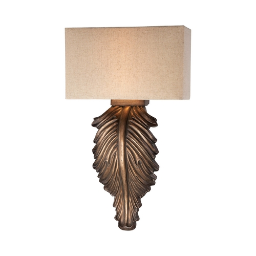 Minka Lavery Sconce Wall Light with Beige / Cream Shades in Regents Patina Finish 5310-1-299
