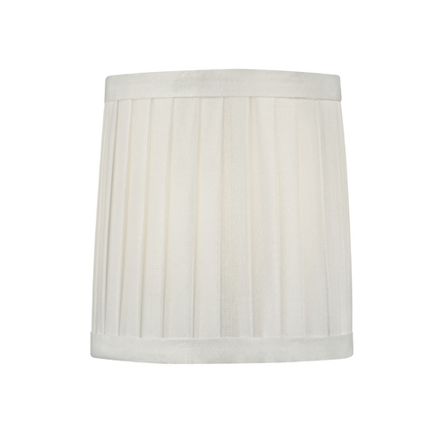 Design Classics Lighting Pleated White Drum Lamp Shade with Clip-On Assembly SH9567