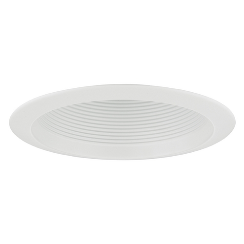 Recesso Lighting by Dolan Designs White Baffle Cone Trim for 6-Inch Recessed Cans T613W-WH
