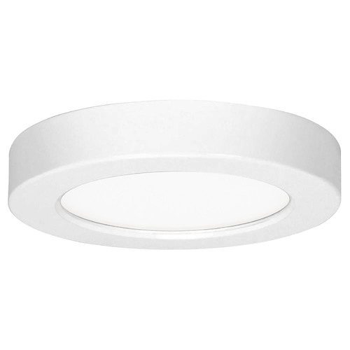 Design Classics Lighting 5-1/2-Inch White Round LED Flushmount Ceiling Light - 3000K 8323-30-WH