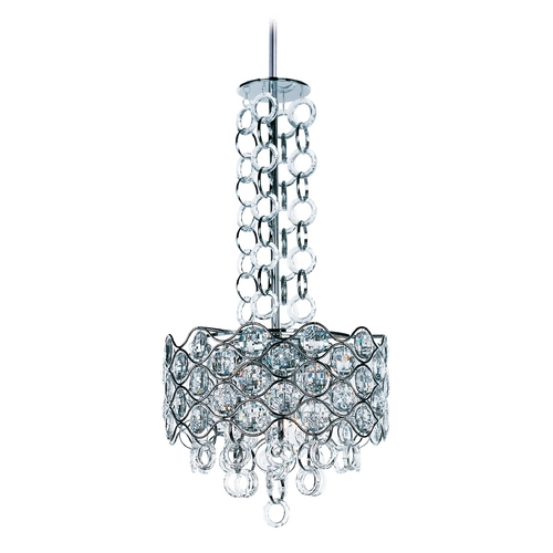Maxim Lighting Maxim Lighting Cirque Chrome Pendant Light with Drum Shade 23094BCPC