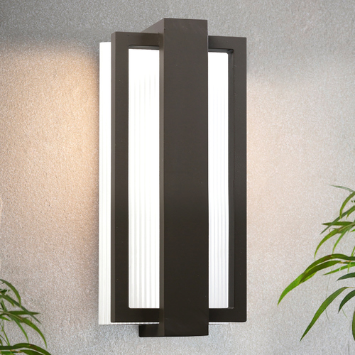 Kichler Lighting Kichler Lighting Sedo Architectural Bronze LED Outdoor Wall Light 49492AZ