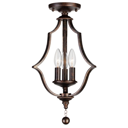 Crystorama Lighting Crystorama Lighting Parson English Bronze Semi-Flushmount Light 9350-EB_CEILING
