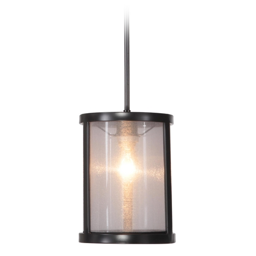 Jeremiah Lighting Jeremiah Lighting Danbury Matte Black Mini-Pendant with Acrylic Shade 36791-MBK