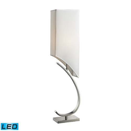 Dimond Lighting Dimond Lighting Polished Nickel LED Table Lamp with Rectangle Shade D2005-LED