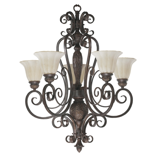 Quorum Lighting Quorum Lighting Coronado Gilded Bronze Chandelier 6195-5-38