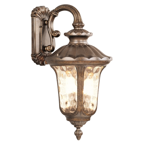 Livex Lighting Livex Lighting Oxford Moroccan Gold Outdoor Wall Light 7663-50