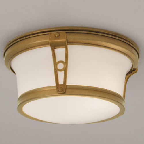 Norwell Lighting Norwell Lighting Leah Aged Brass Flushmount Light 5383-AG-SO