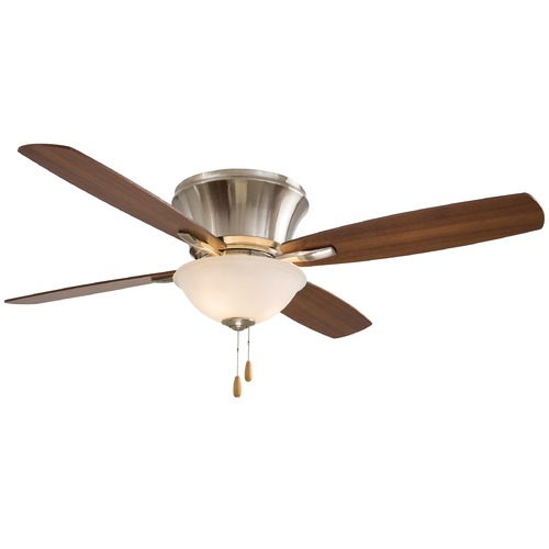 Minka Aire Minka Aire Mojo II Brushed Nickel Ceiling Fan with Light F533-BN