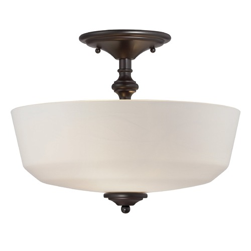 Savoy House Savoy House English Bronze Semi-Flushmount Light 6-6835-2-13