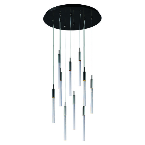 ET2 Lighting Scepter Black Chrome LED Multi-Light Pendant with Cylindrical Shade E32778-91BC