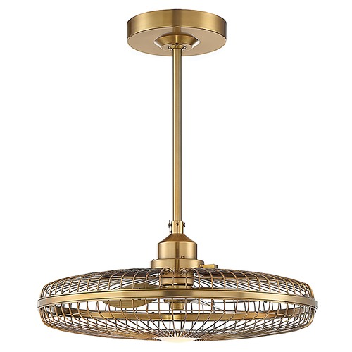 Savoy House Savoy House Wetherby Warm Brass Ceiling Fan with LED Light 3000K 800LM 29-FD-122-322