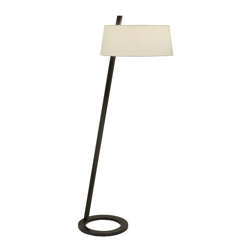 Sonneman Lighting Modern Floor Lamp with White Shade in Black Bronze Finish 7099.51