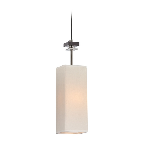 Lite Source Lighting Modern Mini-Pendant Light with White Shade LS-19706