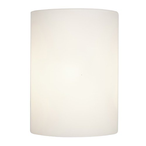Access Lighting Modern Sconce Light with White Glass in Brushed Steel Finish 50182-BS/OPL