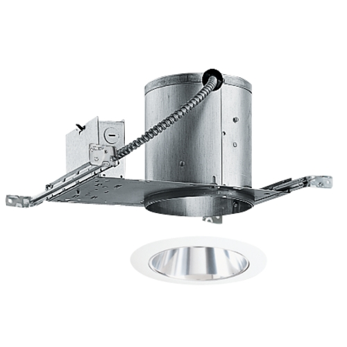 Juno Lighting Group 6-inch Recessed Lighting Kit with Tapered Clear Alzak Trim IC22/27C-WH