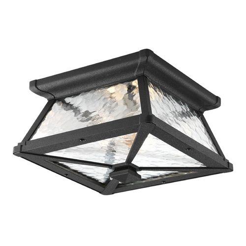 Progress Lighting Progress Close To Ceiling Light with Clear Glass in Black Finish P6023-31