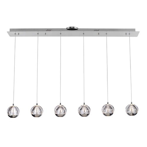 Design Classics Lighting Design Classics Oui Chrome LED Multi-Light Pendant with 6-Lights 1674-26