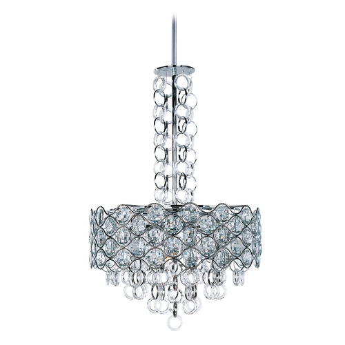Maxim Lighting Crystal Pendant Light in Polished Chrome Finish 23095BCPC