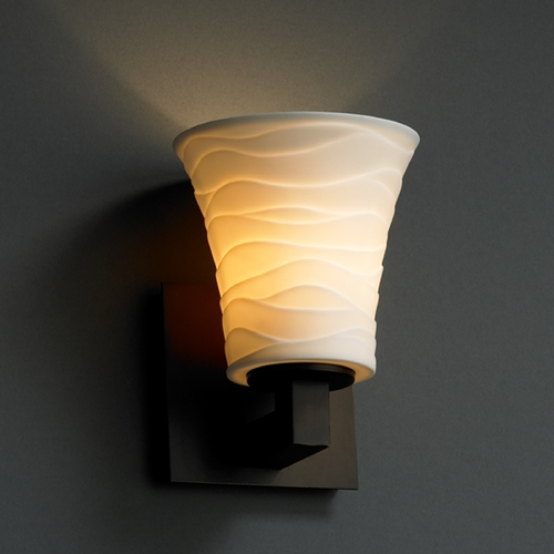 Justice Design Group Justice Design Group Limoges Collection Sconce POR-8921-20-WAVE-DBRZ