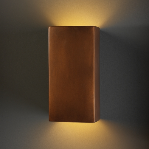 Justice Design Group Sconce Wall Light in Antique Copper Finish CER-0955-ANTC