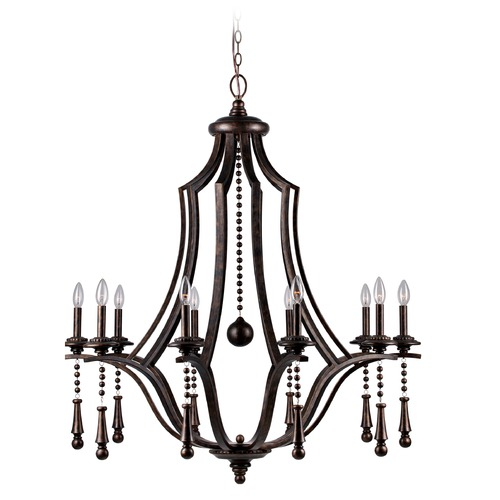 Crystorama Lighting Crystorama Lighting Parson English Bronze Chandelier 9359-EB