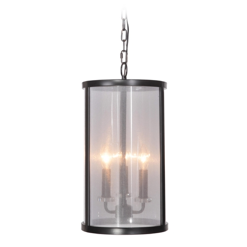 Craftmade Lighting Craftmade Danbury Matte Black Mini-Pendant Light with Cylindrical Shade 36733-MBK