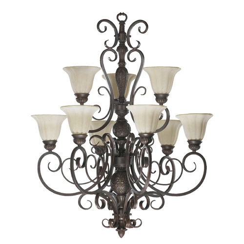 Quorum Lighting Quorum Lighting Coronado Gilded Bronze Chandelier 6195-9-38