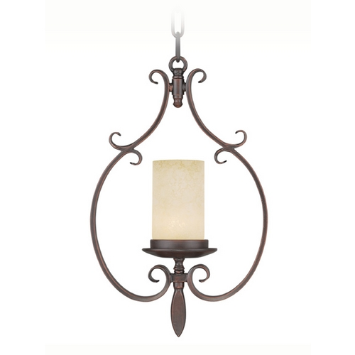 Livex Lighting Livex Lighting Millburn Manor Imperial Bronze Mini-Pendant Light with Cylindrical Shade 5480-58