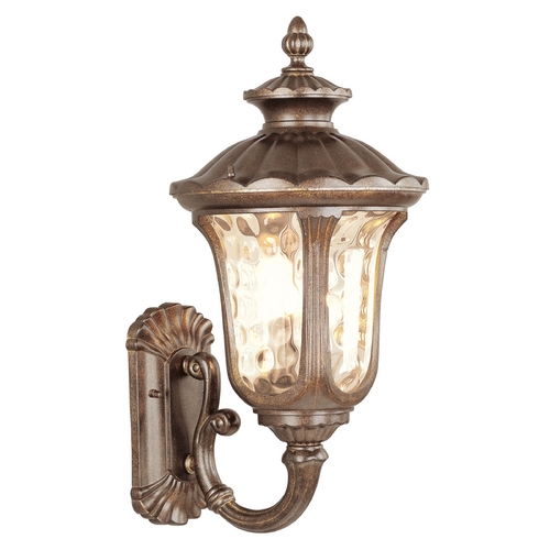Livex Lighting Livex Lighting Oxford Moroccan Gold Outdoor Wall Light 7662-50