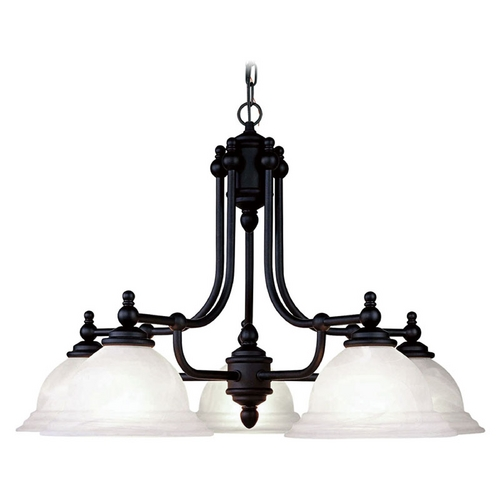 Livex Lighting Livex Lighting North Port Black Chandelier 4255-04
