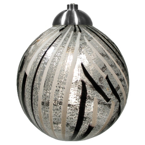 Oggetti Lighting Oggetti Lighting Perle Satin Nickel Mini-Pendant Light with Globe Shade 18-183B