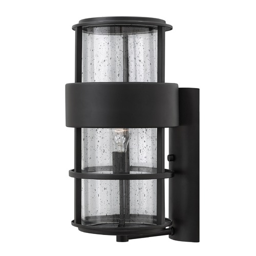 Hinkley Lighting Hinkley Lighting Saturn Satin Black Outdoor Wall Light 1905SK
