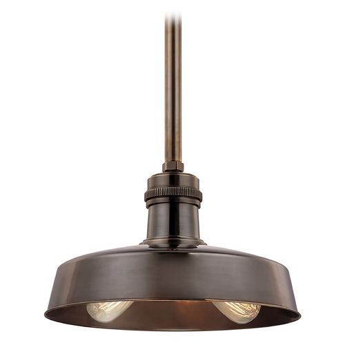 Hudson Valley Lighting Hudson Valley Lighting Hudson Falls Distressed Bronze Pendant Light with Bowl / Dome Shade 8614-DB