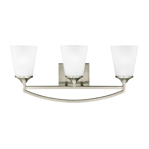 Sea Gull Lighting Sea Gull Hanford Brushed Nickel Bathroom Light 4424503-962