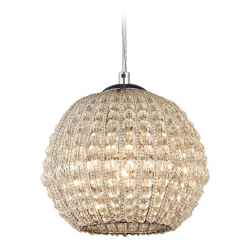 Elk Lighting Elk Lighting Crystal Ring Polished Chrome Mini-Pendant Light 45256/1
