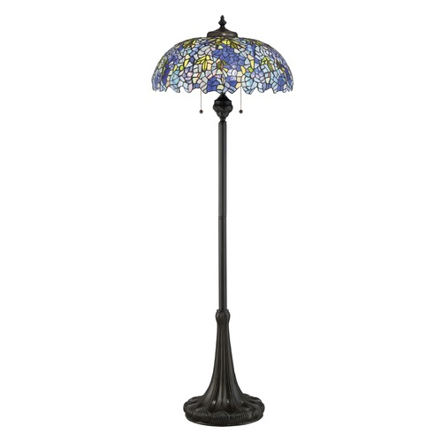 Quoizel Lighting Quoizel Lighting Tiffany Vintage Bronze Floor Lamp with Bowl / Dome Shade TF2601FVB