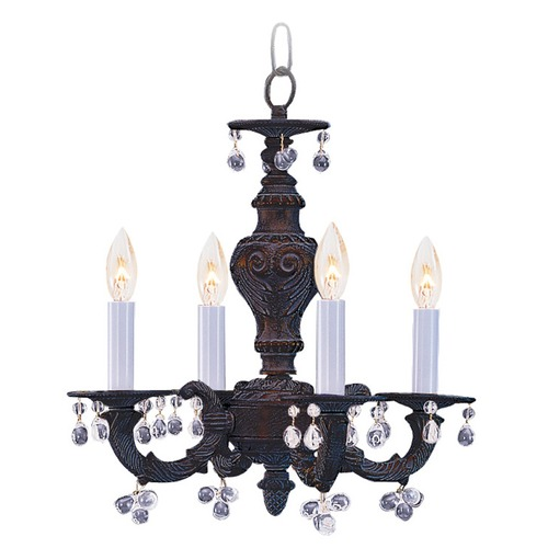 Crystorama Lighting Crystorama Lighting Paris Market Venetian Bronze Crystal Chandelier 5224-VB-CLEAR