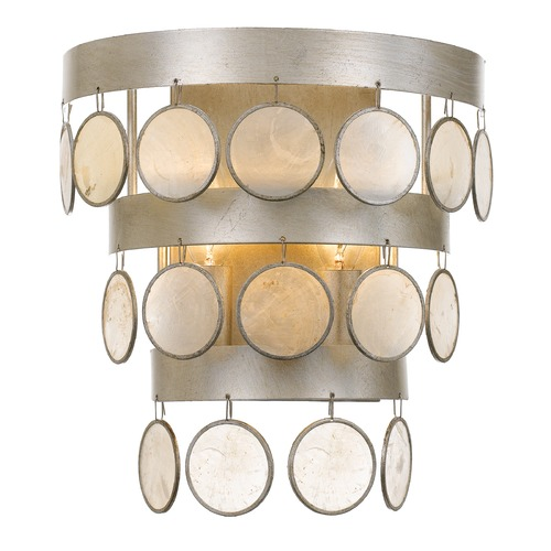 Crystorama Lighting Crystorama Lighting Coco Antique Silver Sconce 6002-SA