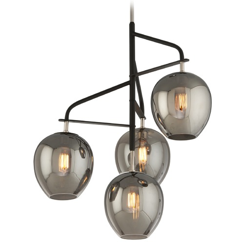 Troy Lighting Troy Lighting Odyssey Carbide Black and Polished Nickel Pendant Light F4296