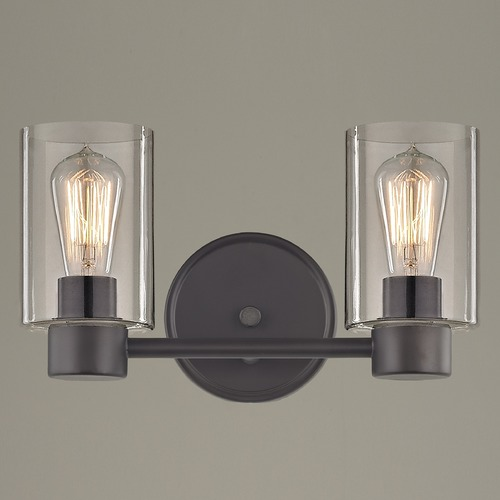 Design Classics Lighting Industrial Aon Fuse Bronze Bathroom Light 1802-220 GL1040C