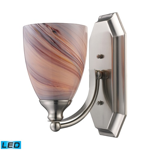Elk Lighting Elk Lighting Bath and Spa Satin Nickel LED Sconce 570-1N-CR-LED