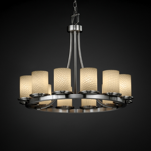 Justice Design Group Justice Design Group Fusion Collection Chandelier FSN-8768-10-WEVE-NCKL