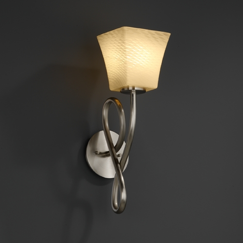 Justice Design Group Justice Design Group Fusion Collection Sconce FSN-8911-40-WEVE-NCKL