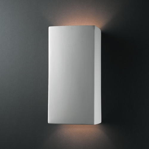 Justice Design Group Sconce Wall Light in Bisque Finish CER-0955-BIS
