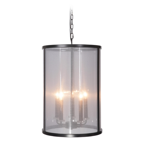 Craftmade Lighting Craftmade Danbury Matte Black Pendant Light with Cylindrical Shade 36735-MBK