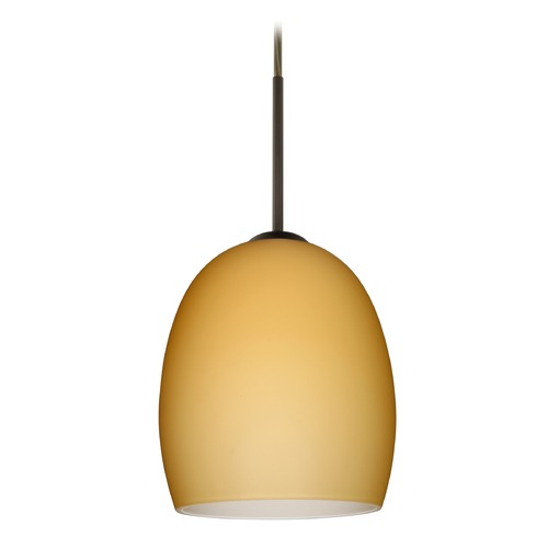 Besa Lighting Besa Lighting Lucia Bronze LED Mini-Pendant Light with Bell Shade 1JT-1697VM-LED-BR